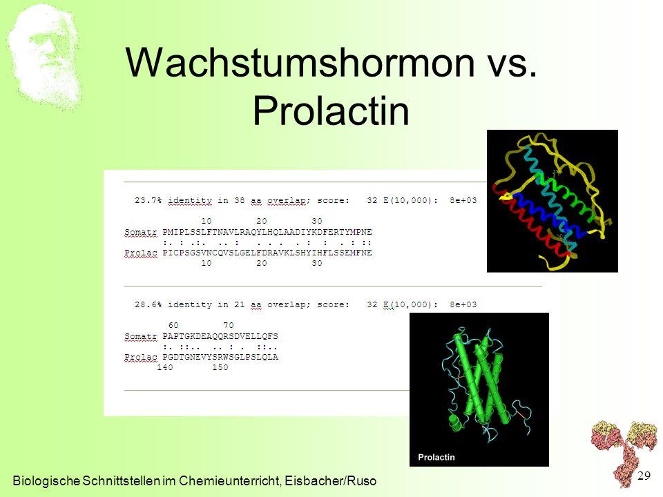 Wachstumshormon vs. Prolactin Biologische Schnittstellen im Chemieunterricht, Eisbacher/Ruso 29