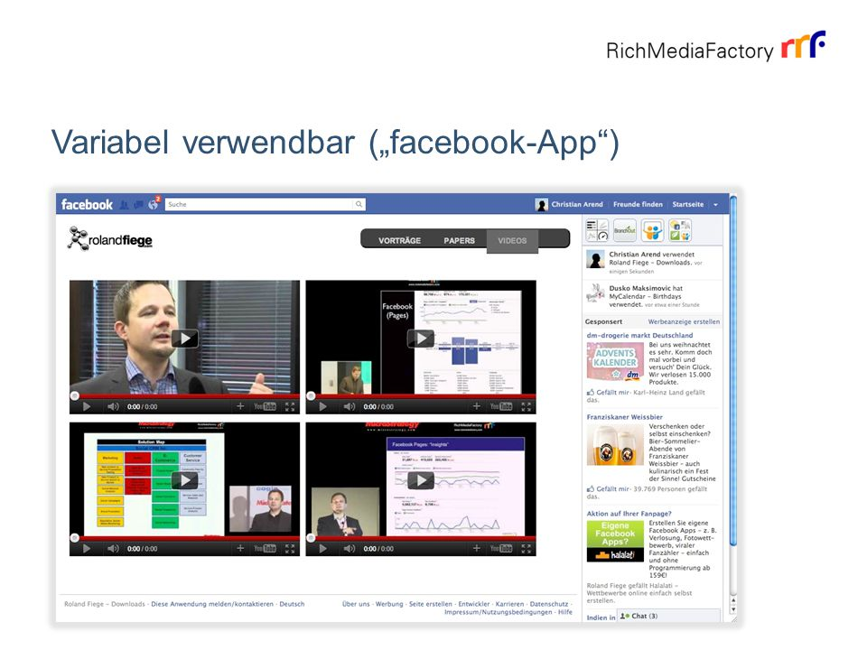 "Variabel verwendbar (""facebook-App )"