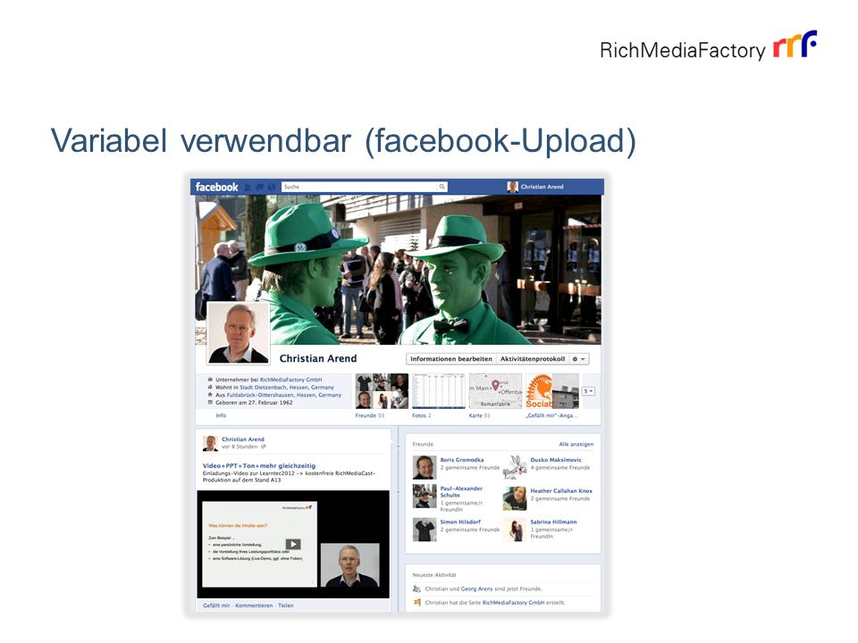 Variabel verwendbar (facebook-Upload)
