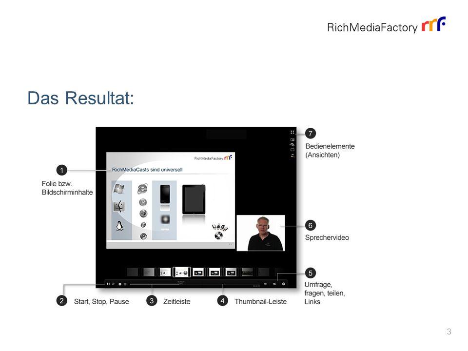 About RichMediaCast On-Demand - ganz einfach: PC + Kamera + Rekorder