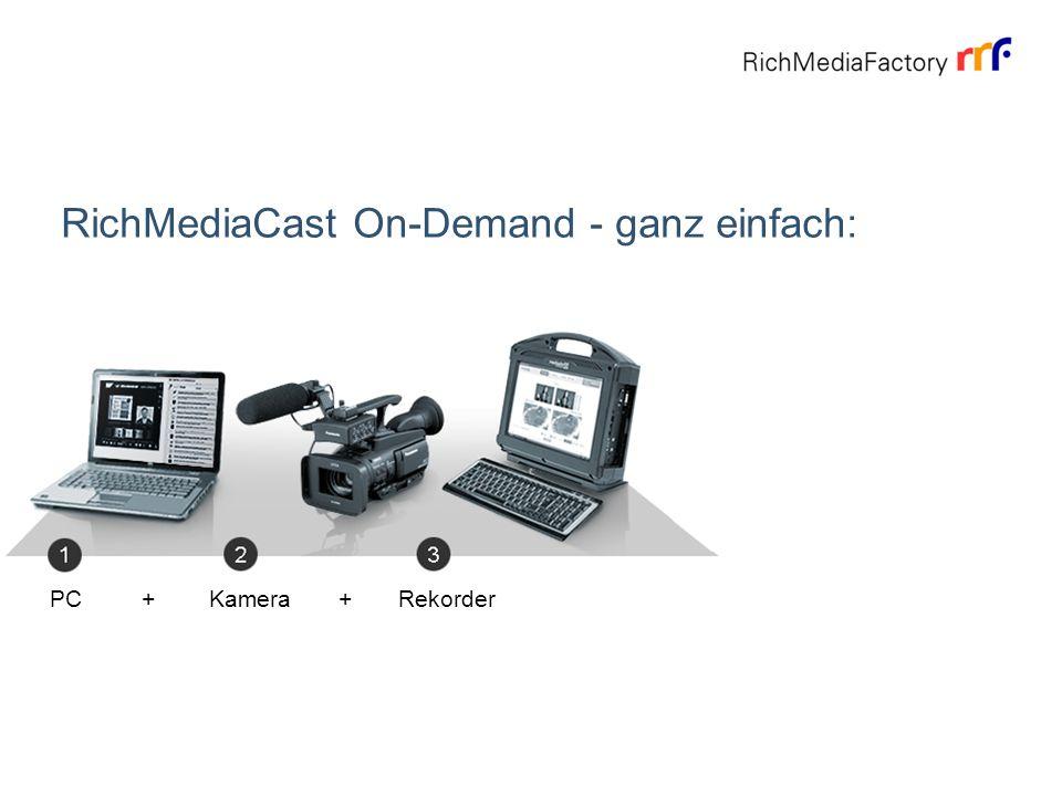 About RichMediaCast live - sofort auf Sendung: PC + Kamera + Rekorder + Streaming-Server + Internet-Zugang