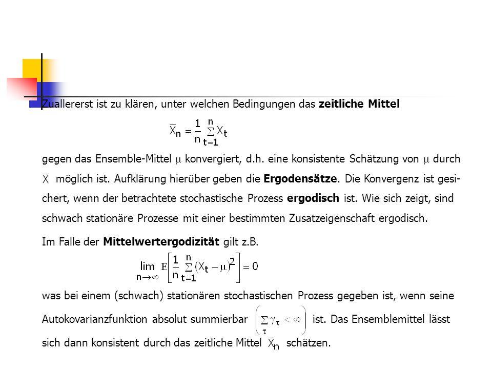 Bei einer Interpretation von x t als Aktienkurs sagt die Eigenschaft (3.1.12) aus, dass die erwartete Kursänderung unter Berücksichtigung der gesamten Kurshistorie der Aktie gleich null ist.