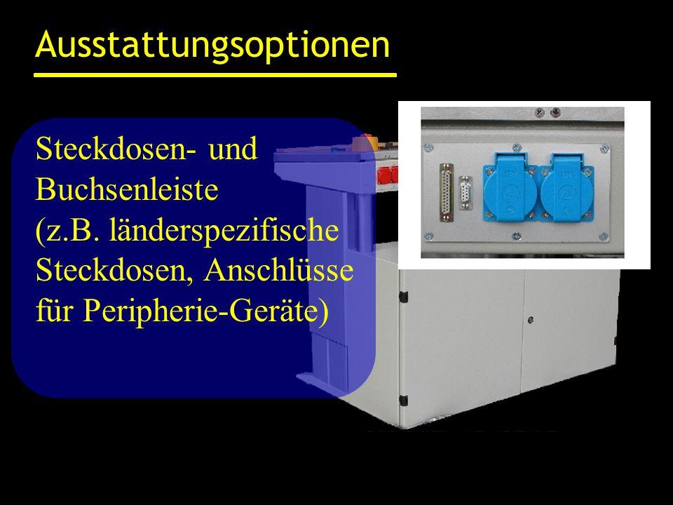Ausstattungsoptionen Steckdosen- und Buchsenleiste (z.B.
