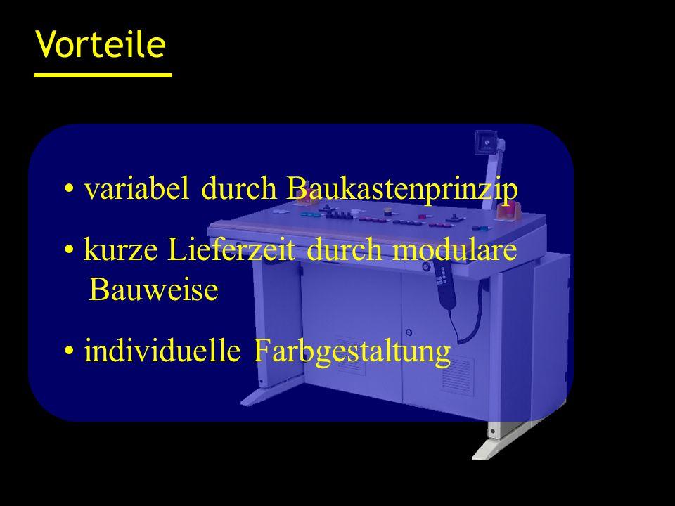 Ausstattungsoptionen Halterung für TFT- oder Plasmabildschirm