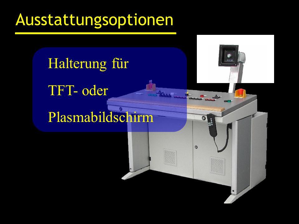 Ausstattungsoptionen Pultplatte in verschiedenen Materialien z.B.