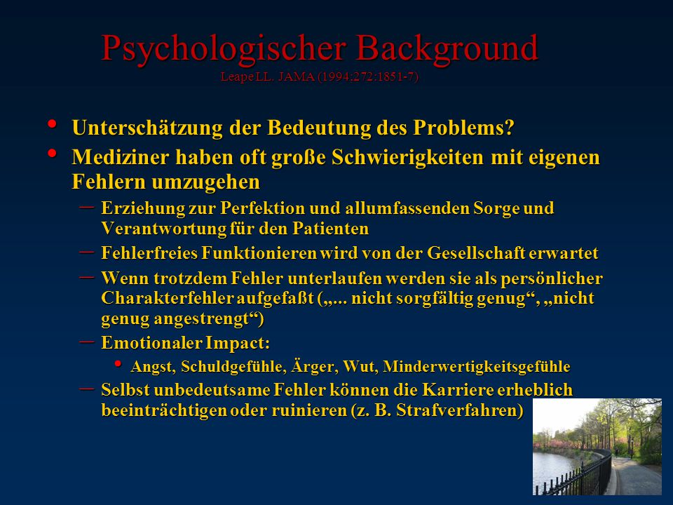 Psychologischer Background Leape LL.