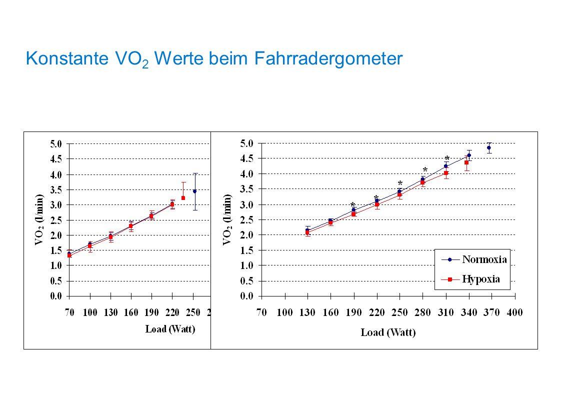 Konstante VO 2 Werte beim Fahrradergometer