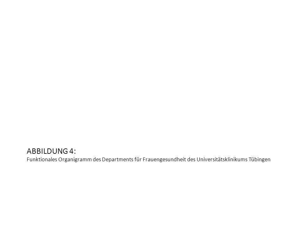 ABBILDUNG 4: Funktionales Organigramm des Departments für Frauengesundheit des Universitätsklinikums Tübingen