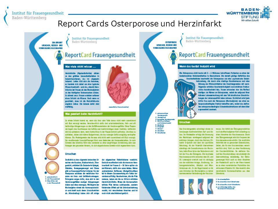 Report Cards Osterporose und Herzinfarkt