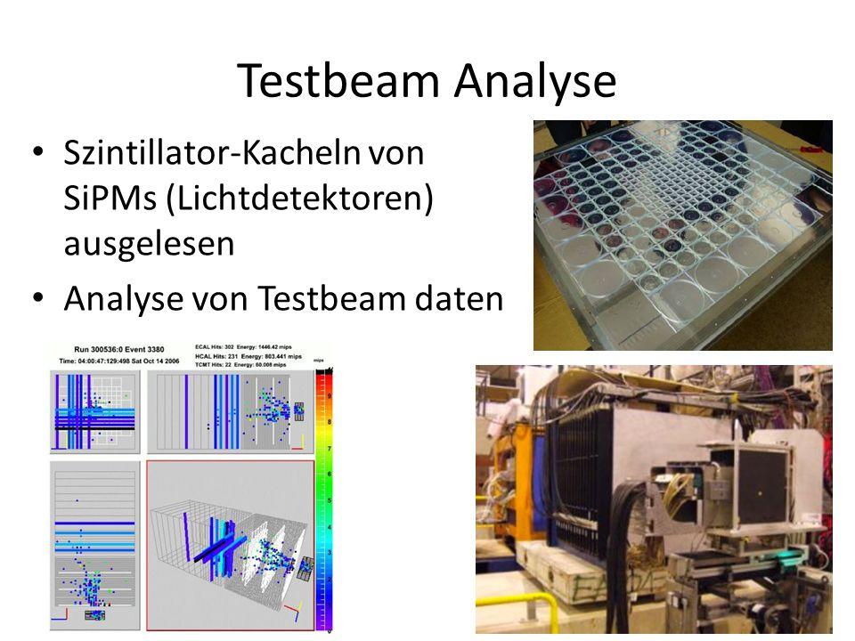 Testbeam Analyse Szintillator-Kacheln von SiPMs (Lichtdetektoren) ausgelesen Analyse von Testbeam daten