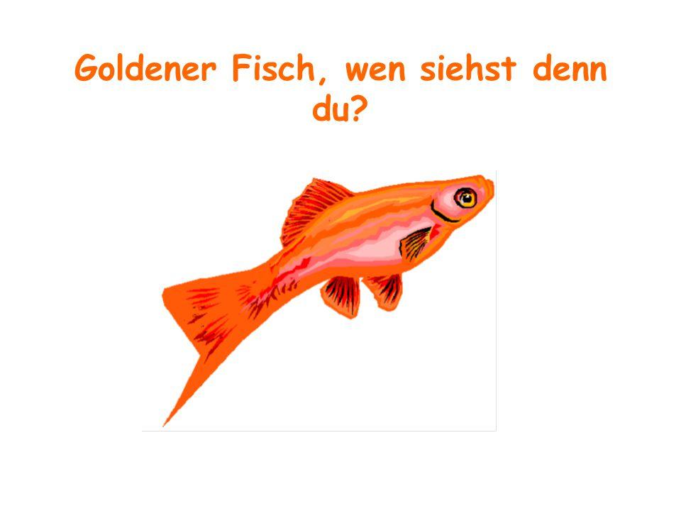 Goldener Fisch, wen siehst denn du?