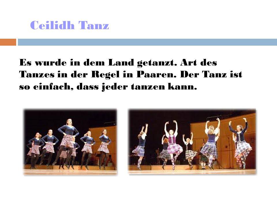 Ceilidh Tanz Es wurde in dem Land getanzt.Art des Tanzes in der Regel in Paaren.