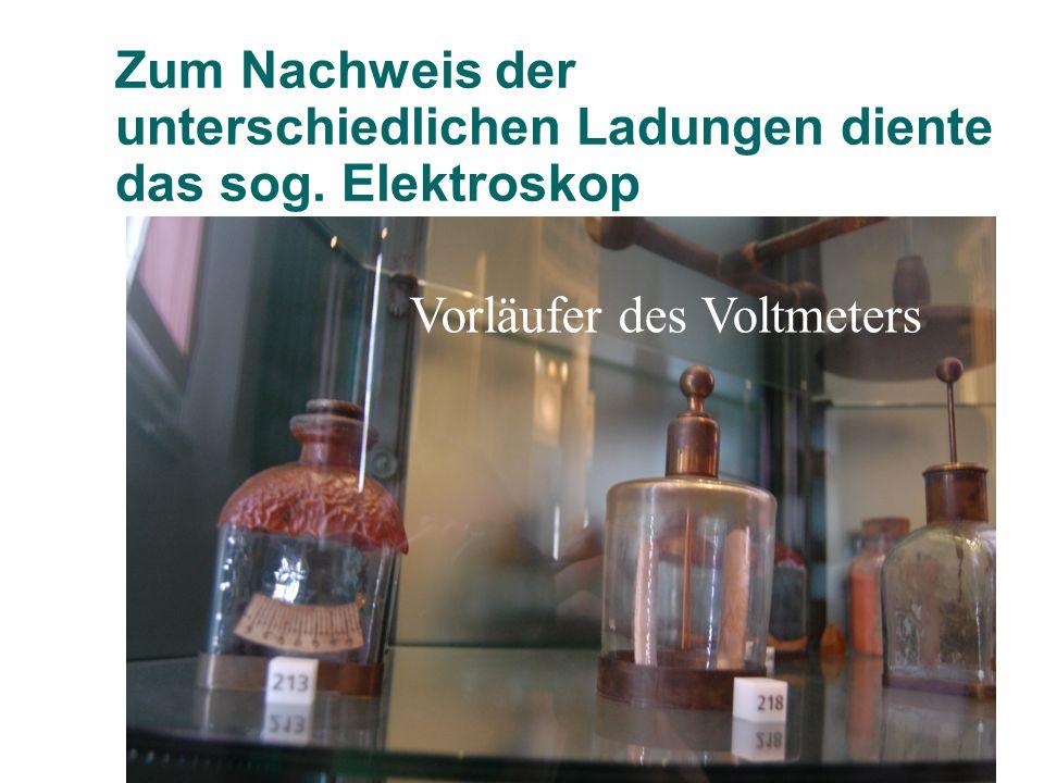 Mit diesen so erzeugten hohen Spannungen konnte Alessandro Volta Wasser in die Elemente zersetzen Explosionseudiometer
