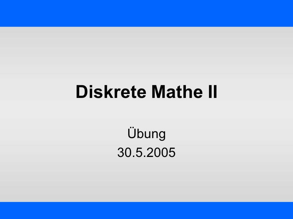 IKG - Übung Diskrete Mathe II – Jörg Schmittwilken 12 Scan-Line – 1.