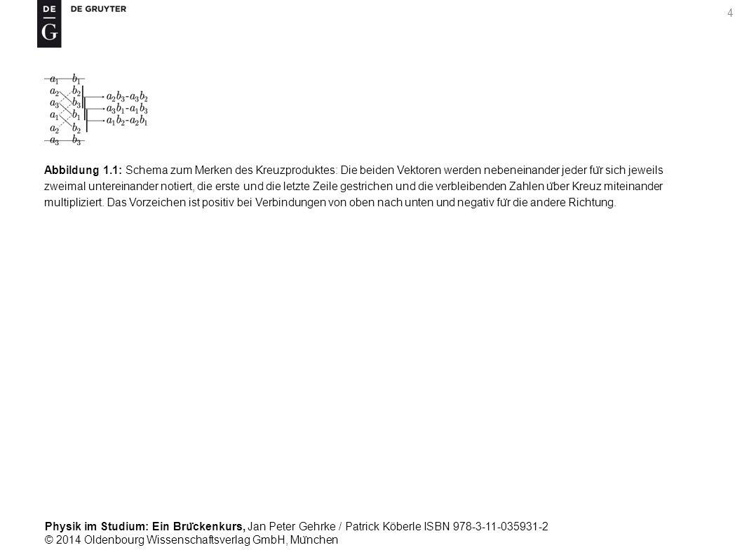 Physik im Studium: Ein Bru ̈ ckenkurs, Jan Peter Gehrke / Patrick Köberle ISBN 978-3-11-035931-2 © 2014 Oldenbourg Wissenschaftsverlag GmbH, Mu ̈ nchen 15