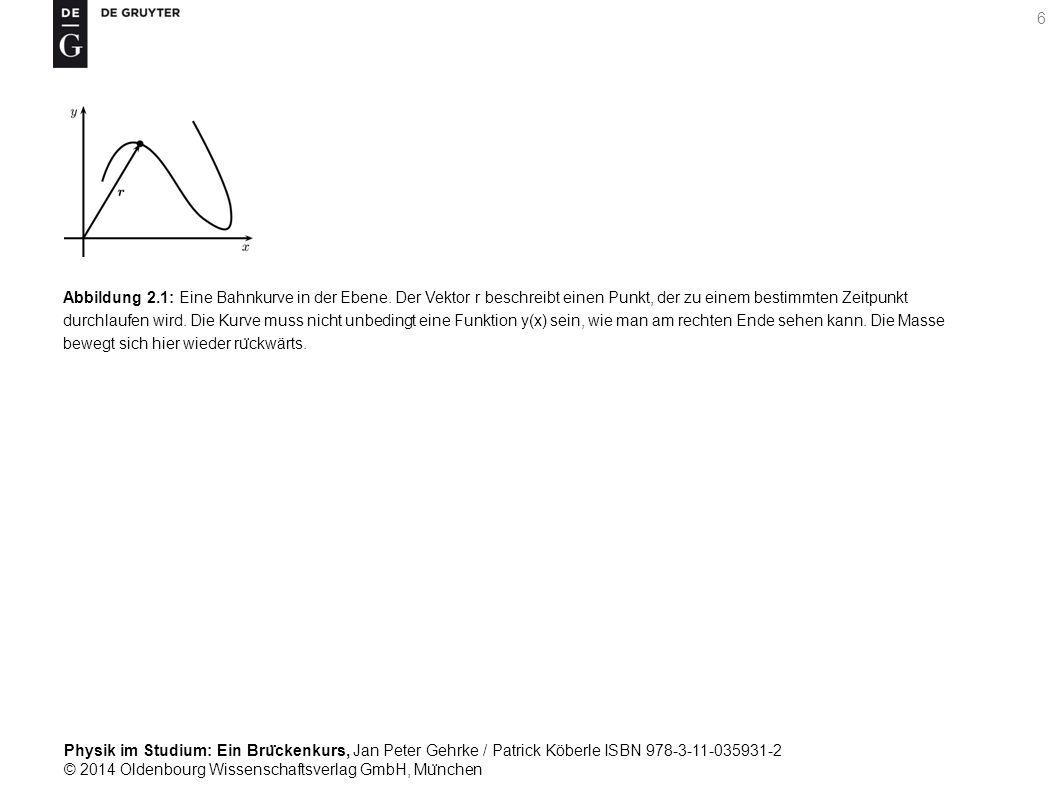 Physik im Studium: Ein Bru ̈ ckenkurs, Jan Peter Gehrke / Patrick Köberle ISBN 978-3-11-035931-2 © 2014 Oldenbourg Wissenschaftsverlag GmbH, Mu ̈ nchen 7 Abbildung 2.2: Zur Definition der Geschwindigkeit.