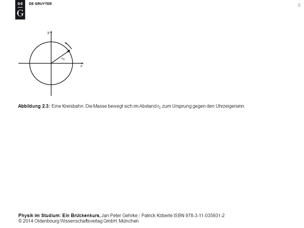 Physik im Studium: Ein Bru ̈ ckenkurs, Jan Peter Gehrke / Patrick Köberle ISBN 978-3-11-035931-2 © 2014 Oldenbourg Wissenschaftsverlag GmbH, Mu ̈ nchen 29