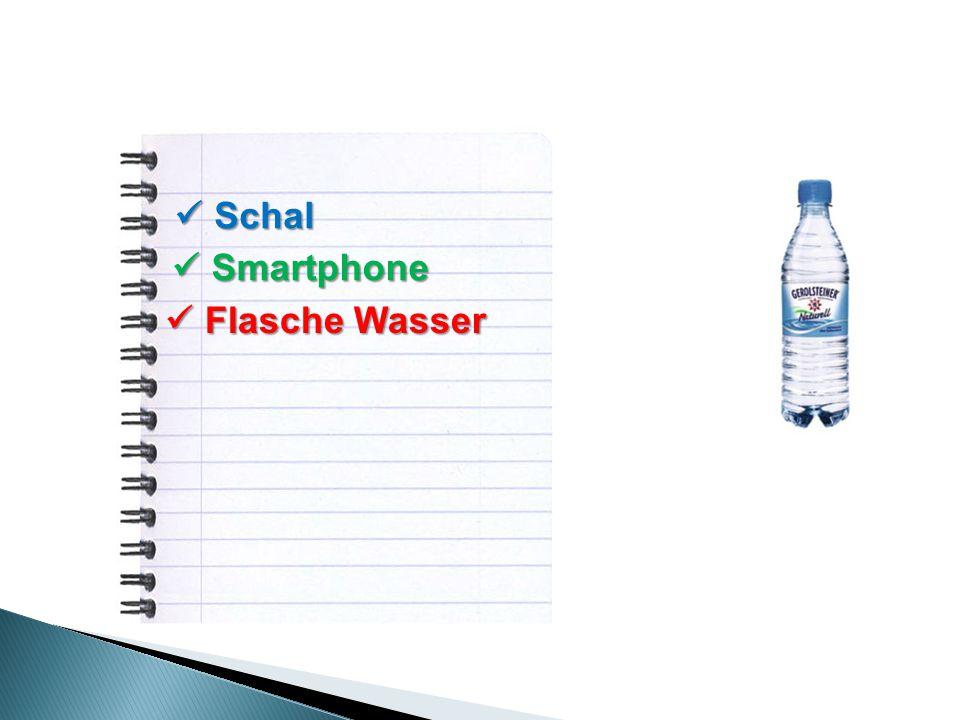 Schal Schal Smartphone Smartphone Flasche Wasser Flasche Wasser