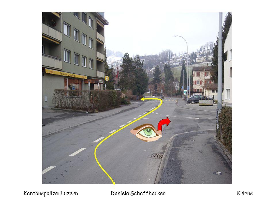 Kantonspolizei LuzernDaniela SchaffhauserKriens Vorsicht nicht Kurveschneiden!