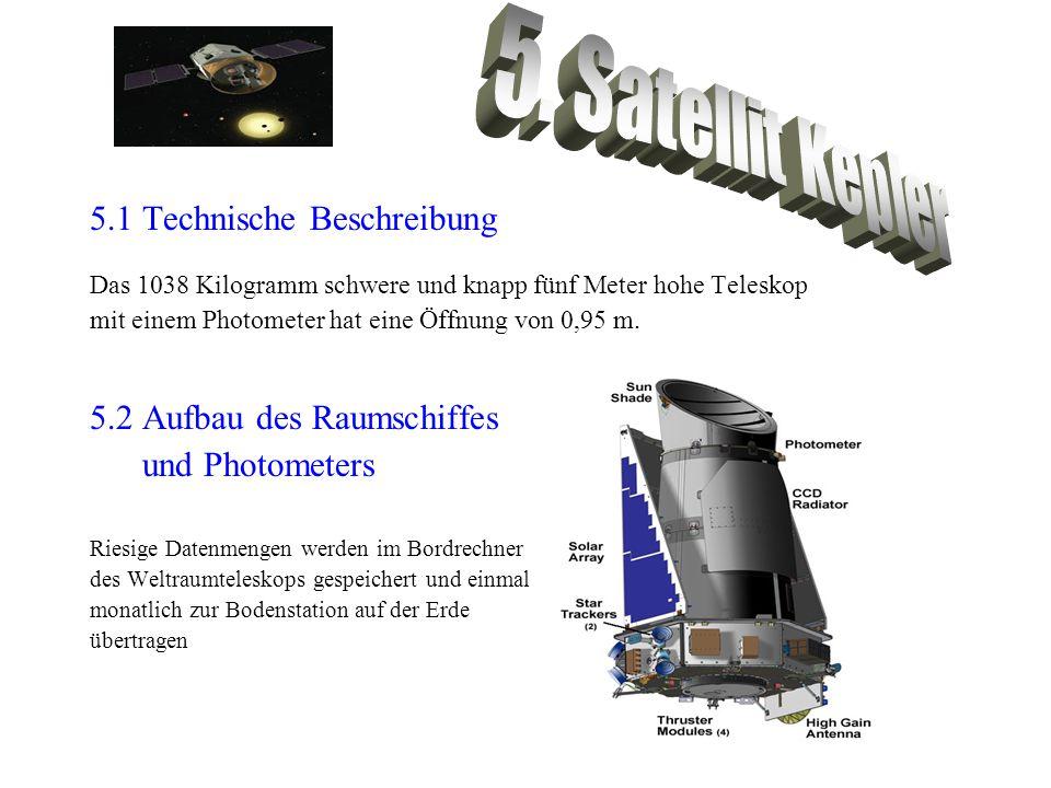 5.1 Technische Beschreibung Das 1038 Kilogramm schwere und knapp fünf Meter hohe Teleskop mit einem Photometer hat eine Öffnung von 0,95 m. 5.2 Aufbau