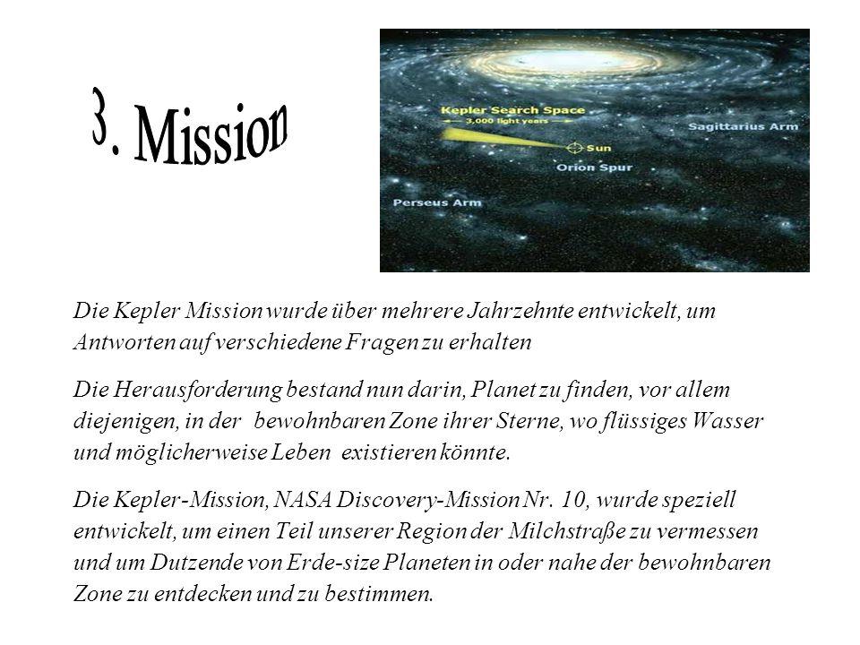Die Kepler Mission wurde über mehrere Jahrzehnte entwickelt, um Antworten auf verschiedene Fragen zu erhalten Die Herausforderung bestand nun darin, P
