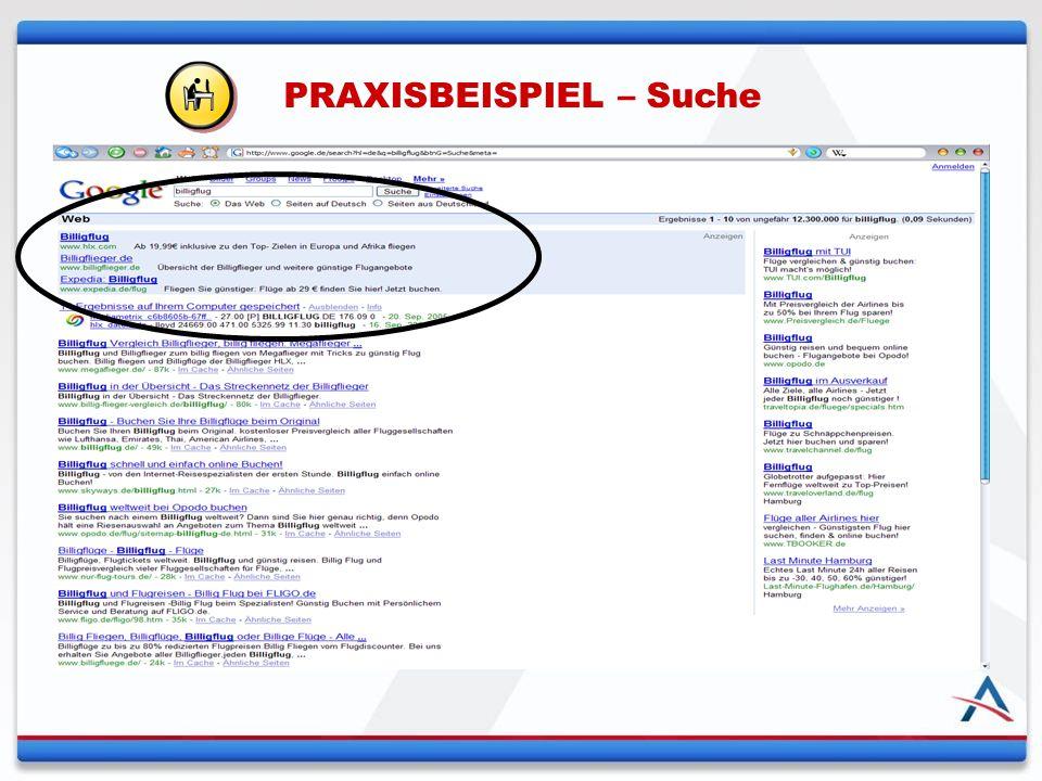 PRAXISBEISPIEL – Suche