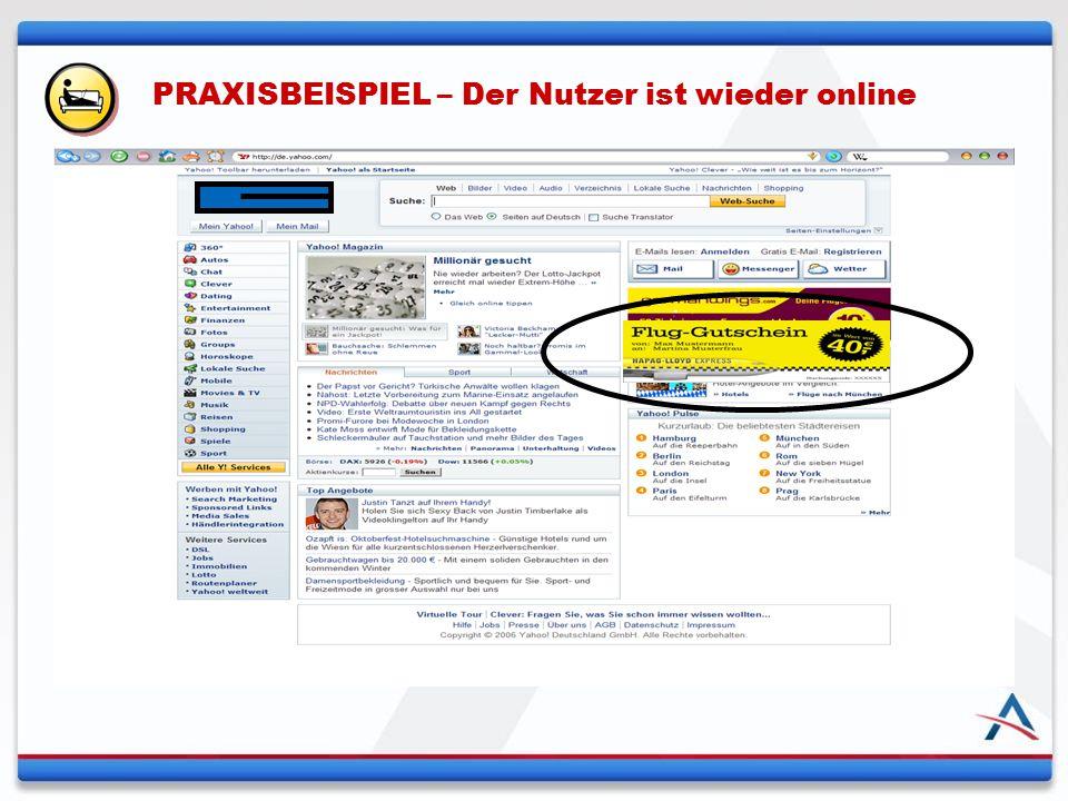 PRAXISBEISPIEL – Der Nutzer ist wieder online