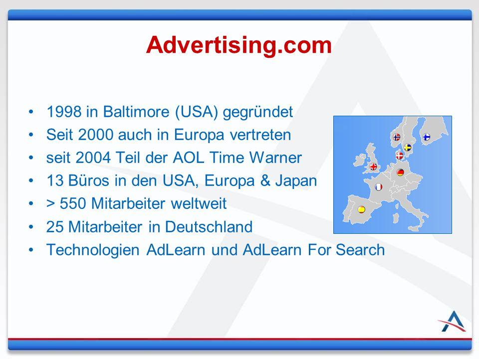 1998 in Baltimore (USA) gegründet Seit 2000 auch in Europa vertreten seit 2004 Teil der AOL Time Warner 13 Büros in den USA, Europa & Japan > 550 Mita