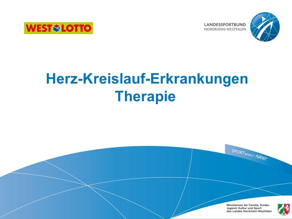 Herz-Kreislauf-Erkrankungen Therapie 