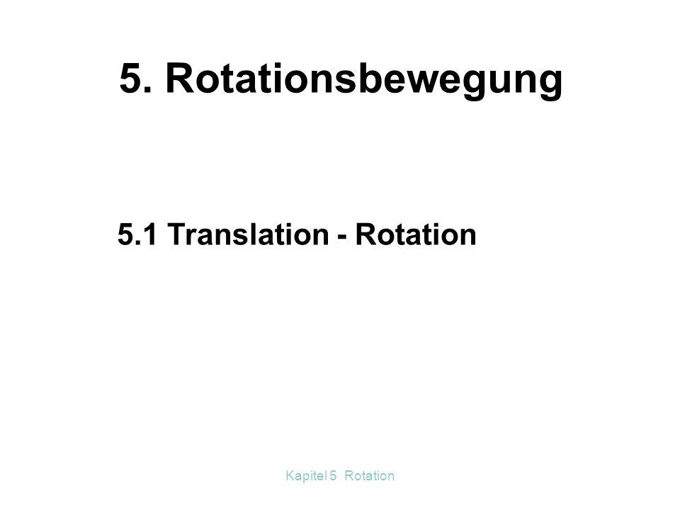 Kapitel 5 Rotation Fliehkraftversuche m 1  2 r 1 = m 2  2 r 2 m 1 r 1 = m 2 r 2 m 1 : m 2 = r 2 : r 1