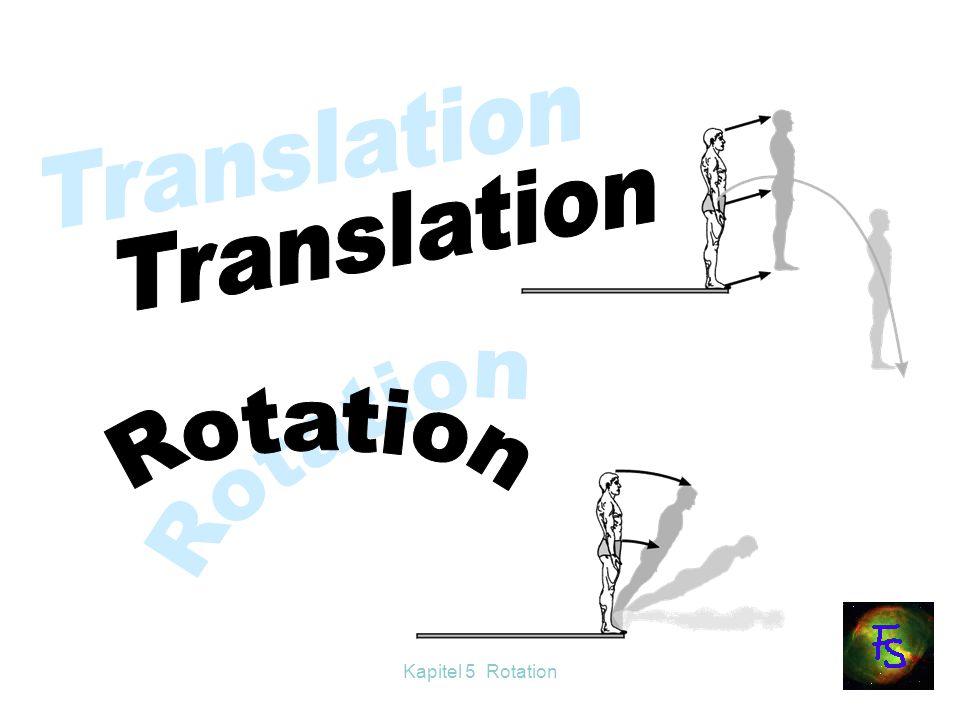 Kapitel 5 Rotation Versuch 2: Die Versuchsperson sitzt auf dem Drehschemel und hält ein Rad mit Drehachse parallel zur Schemelachse.
