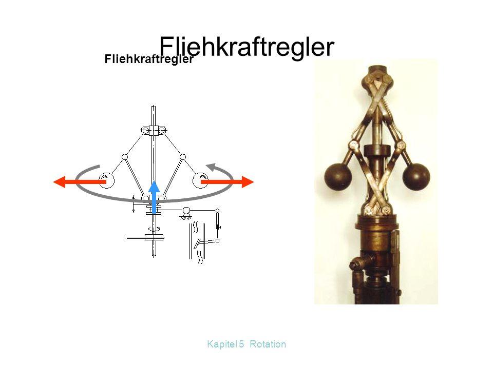 Kapitel 5 Rotation Die Zentrifugalkraft ist eine Trägheitskraft, die nur in rotierenden Systemen auftritt. Trägheitskräfte werden eingeführt, um die N