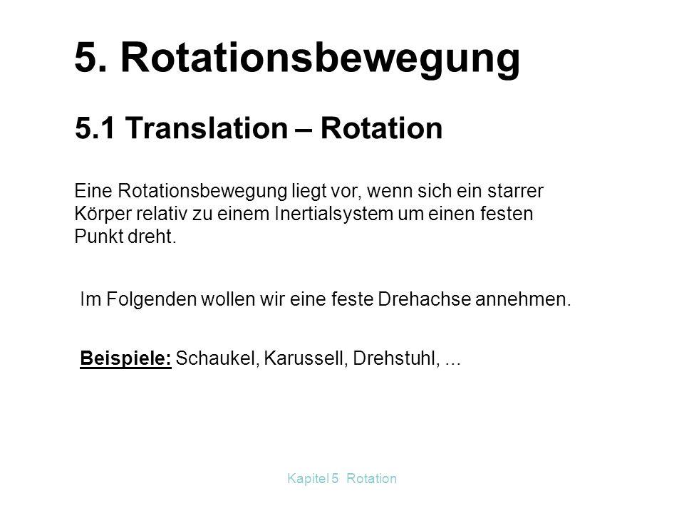 Kapitel 5 Rotation Versuch 3 Die Versuchsperson sitzt auf dem Drehschemel in Ruhe.