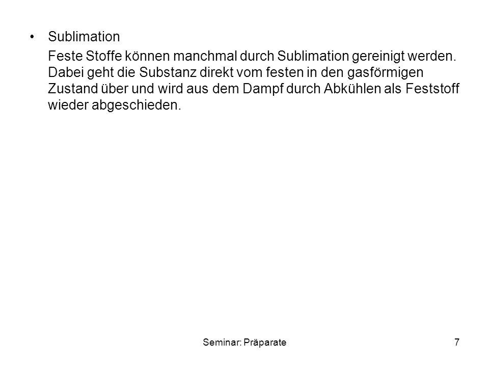 Seminar: Präparate8 2.