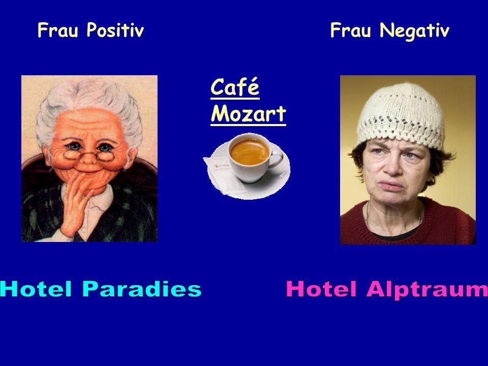 Frau PositivFrau Negativ Café Mozart