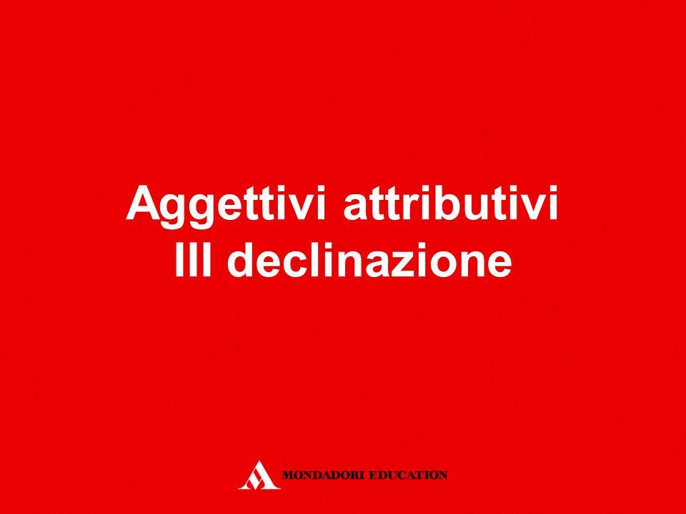 Aggettivi attributivi III declinazione
