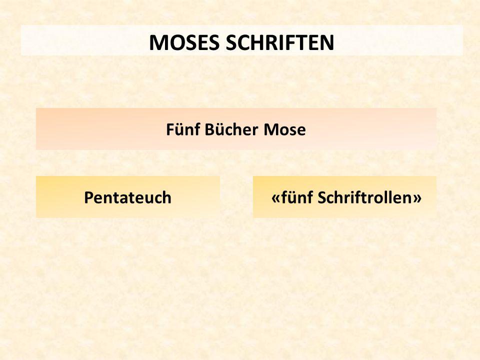 MOSES SCHRIFTEN Pentateuch «fünf Schriftrollen» Fünf Bücher Mose