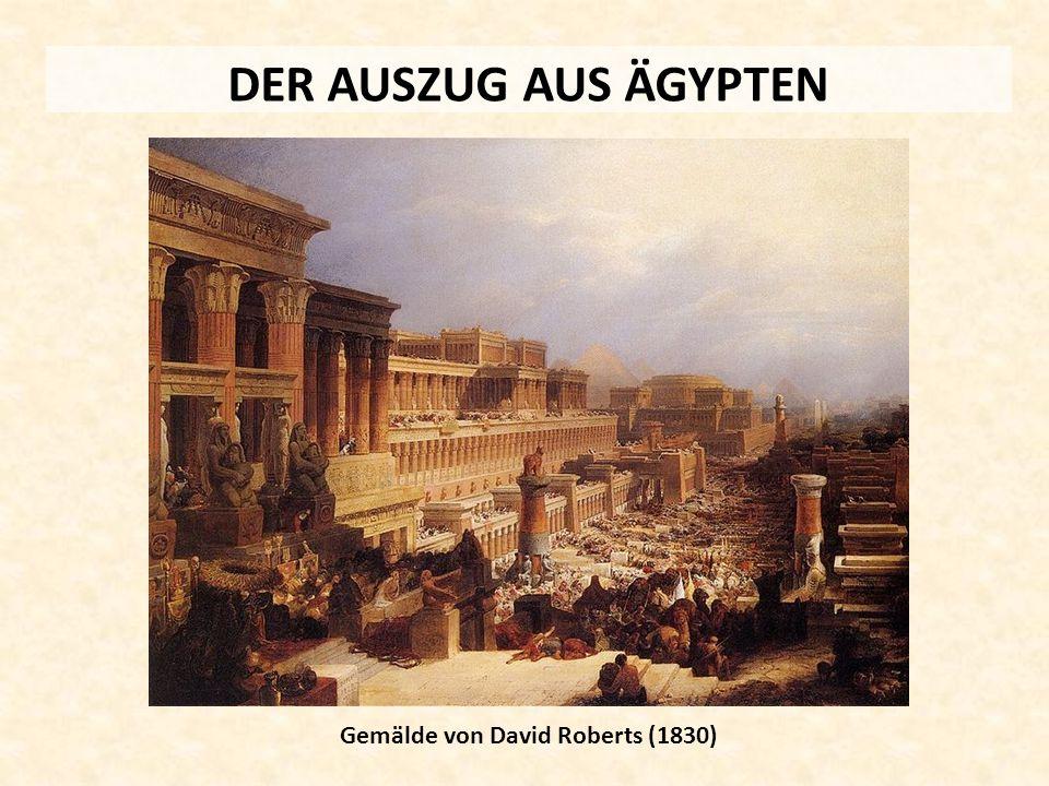 DER AUSZUG AUS ÄGYPTEN Gemälde von David Roberts (1830)