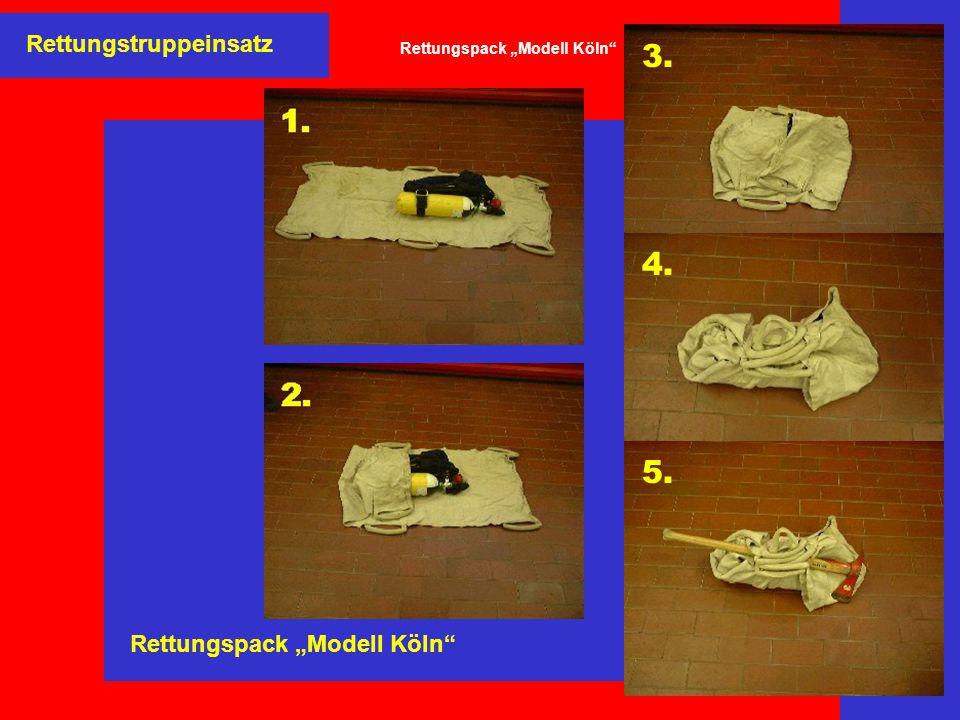 """Rettungstruppeinsatz Rettungspack """"Modell Köln"""" 3. 4. 5."""