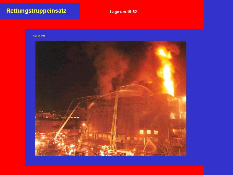 Rettungstruppeinsatz Lage um 19:52