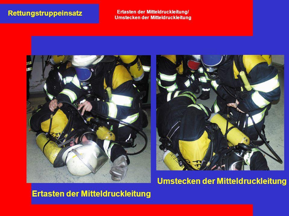 Rettungstruppeinsatz Crash-Rettung aus dem Gefahrenbereich mittels Bandschlinge