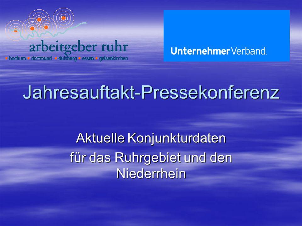 Jahresauftakt-Pressekonferenz Aktuelle Konjunkturdaten für das Ruhrgebiet und den Niederrhein