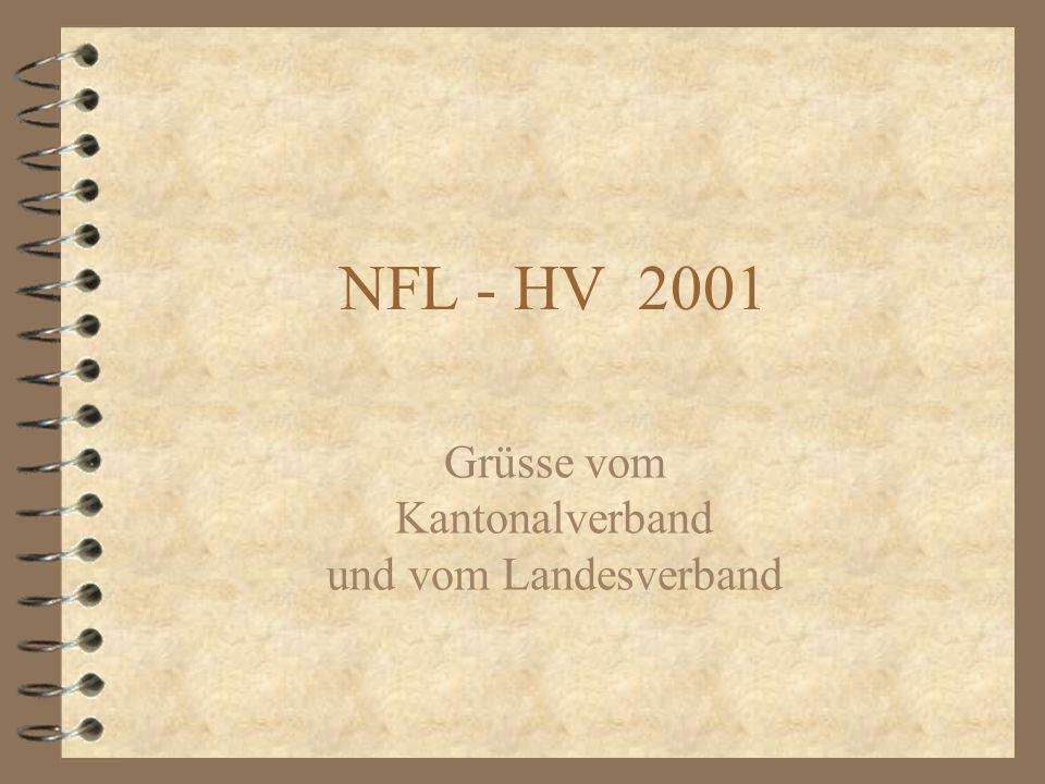 NFL - HV 2001 Grüsse vom Kantonalverband und vom Landesverband