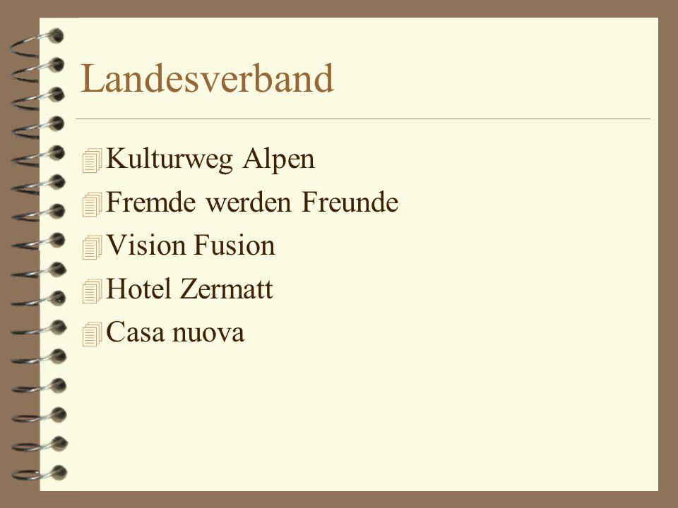 Landesverband 4 Kulturweg Alpen 4 Fremde werden Freunde 4 Vision Fusion 4 Hotel Zermatt 4 Casa nuova