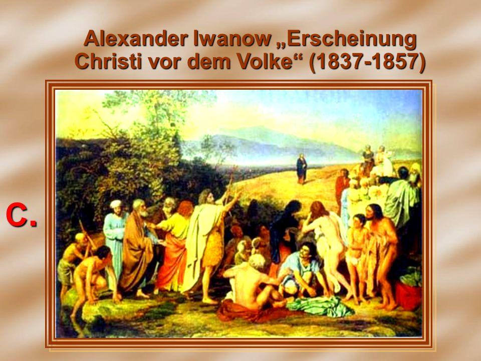 """Alexander Iwanow """"Erscheinung Christi vor dem Volke"""" (1837-1857) С.С.С.С."""