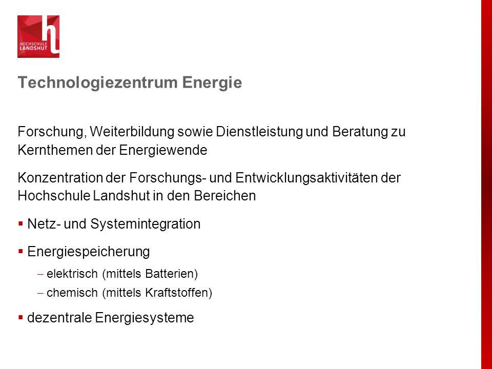 Technologiezentrum Energie Forschung, Weiterbildung sowie Dienstleistung und Beratung zu Kernthemen der Energiewende Konzentration der Forschungs- und