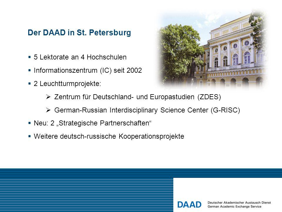 Das DAAD-Informationszentrum St. Petersburg