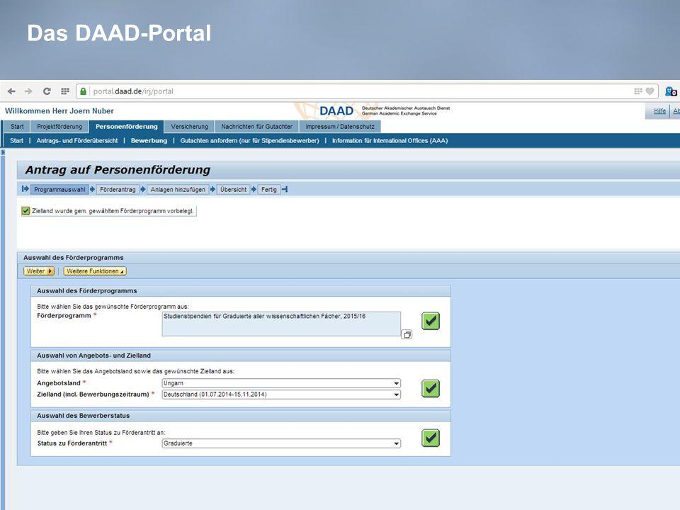 Das DAAD-Portal 39
