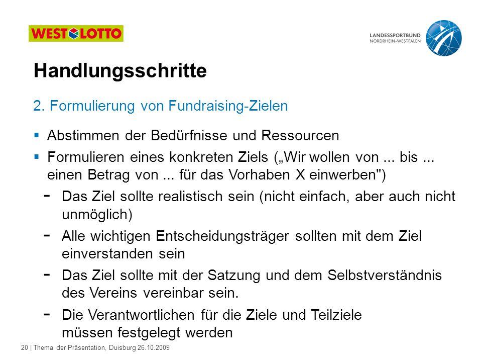 20 | Thema der Präsentation, Duisburg 26.10.2009 2.