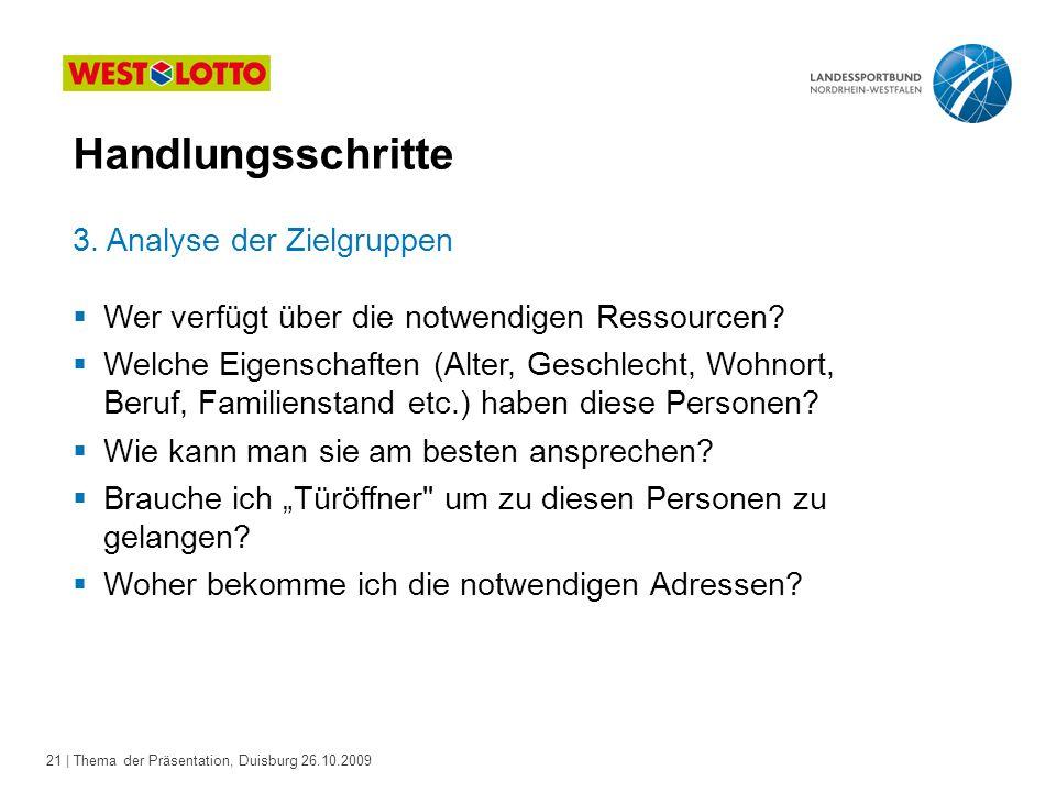 21 | Thema der Präsentation, Duisburg 26.10.2009 3.